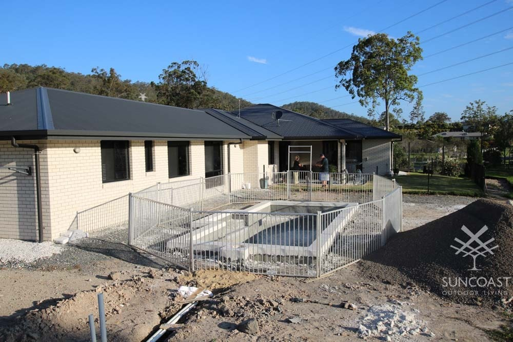 Before Completed Pool Enclosure Landscaping, Maudsland QLD