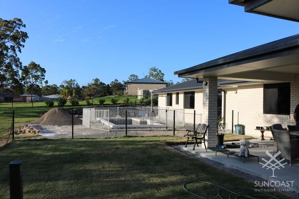 Before Completed Pool Enclosure, Maudsland QLD