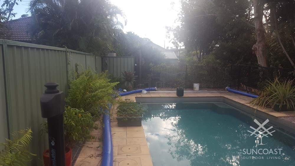 Before - Pool With Debris, Clontarf, QLD