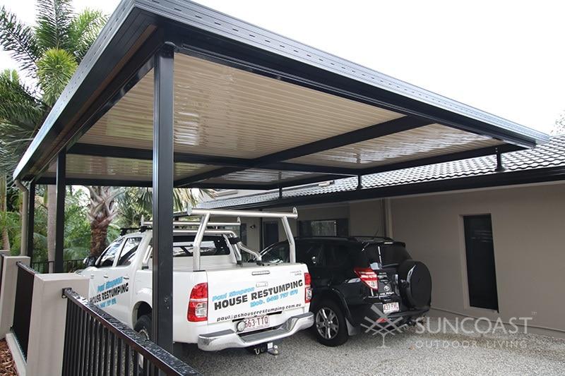 Flyover patio carport