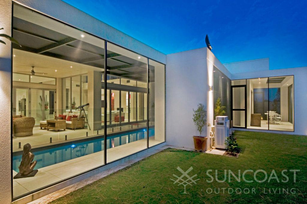 Pool enclosure with pool safe screen exterior view