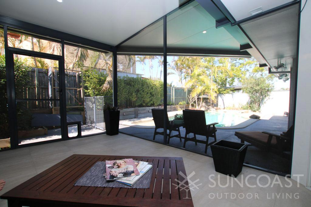 Pool safe screens with Patio