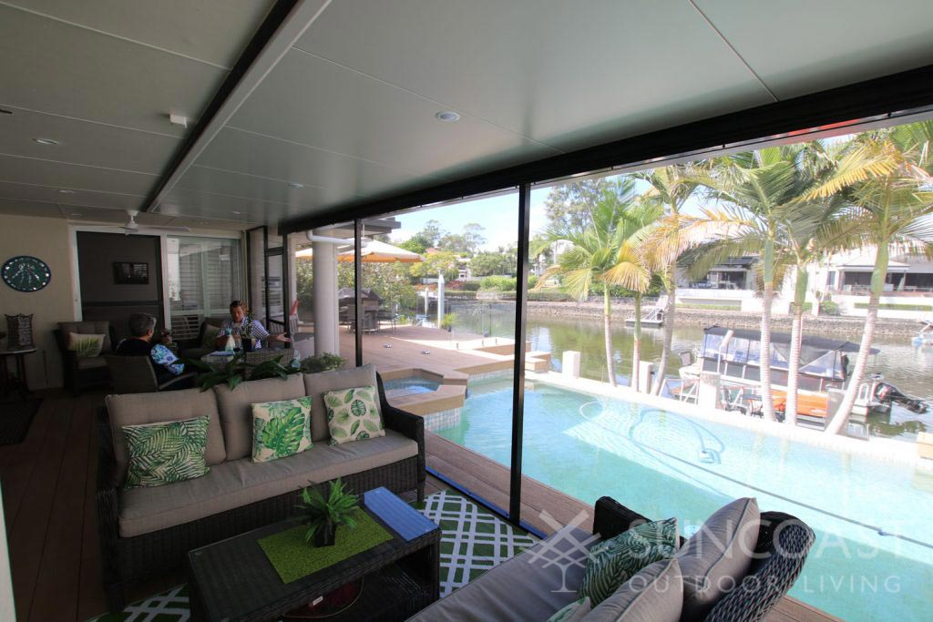Pool safe screen with unhindered views