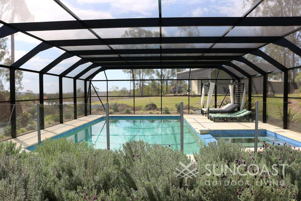 Large screened pool enclosure