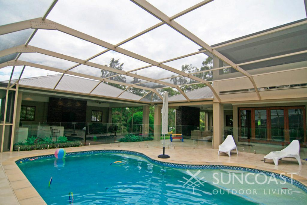 Large screened pool enclosure in SE QLD