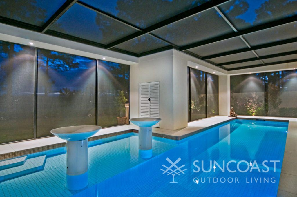 Swimming Pool Enclosure with lighting