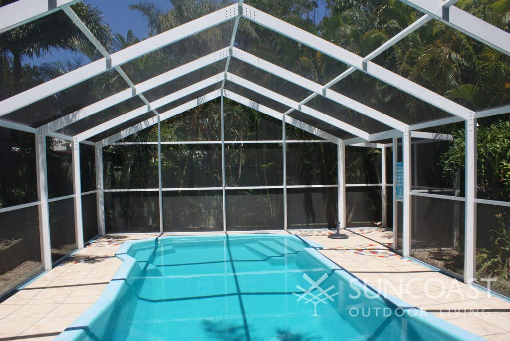 Pool enclosure with Gable Roof