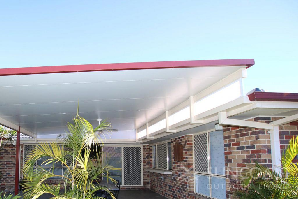 Insulated Colorbond roof over patio area